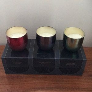 Set of mini mercury glass candles scented